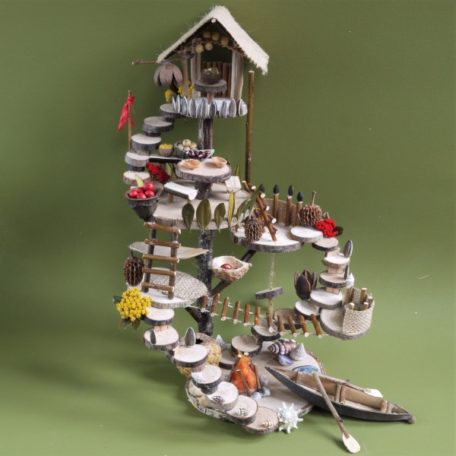 Model of Naturemake Adventure Island Dwelling craft kit