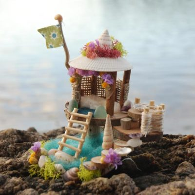 Mini Seashore Fairy House
