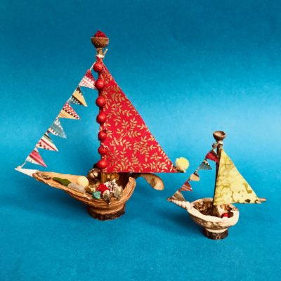 Model of the Naturemake Treasure Boats kit